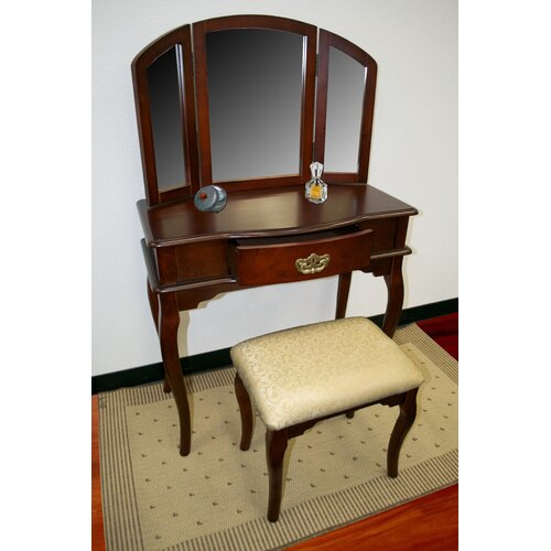 Williams Import Co. Vanity Set with Mirror