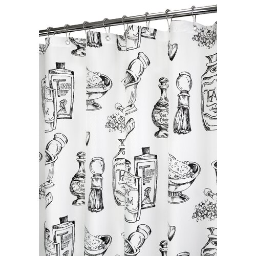 Prints Polyester Barber Shop Shower Curtain