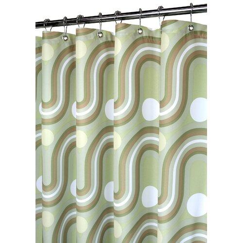Watershed Prints Polyester Squiggles Shower Curtain