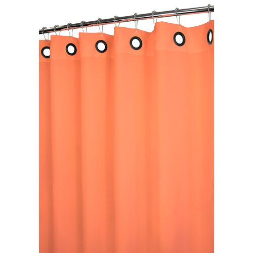 Watershed Solid Polyester Dorset Large Grommet Shower Curtain