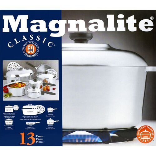 Magnalite Cookware Classic Cast Aluminum 13-Piece Classic Cookware Set