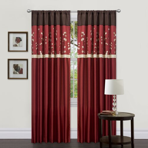Special Edition by Lush Decor Cocoa Blossom Rod Pocket Curtain Panel