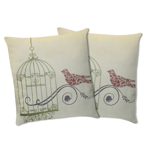Dream Bird Cotton Pillow (Set of 2)