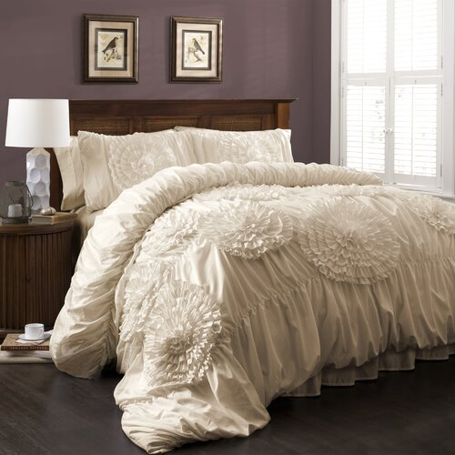 Lush Decor Serena 3 Piece Comforter Set & Reviews