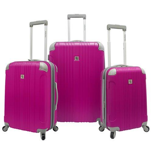 Beverly Hills Country Club Malibu Hardsided 3 Piece Spinner Luggage Set