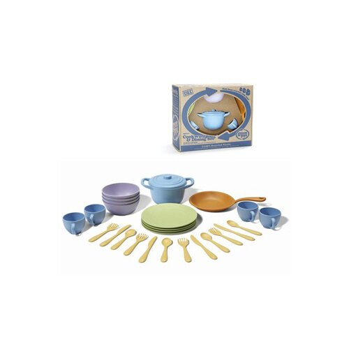 Green Toys 27 Piece Cookware and Dinnerware Set