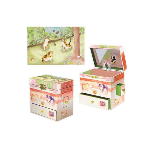 Enchantmints Curious Kittens Treasure Music Box