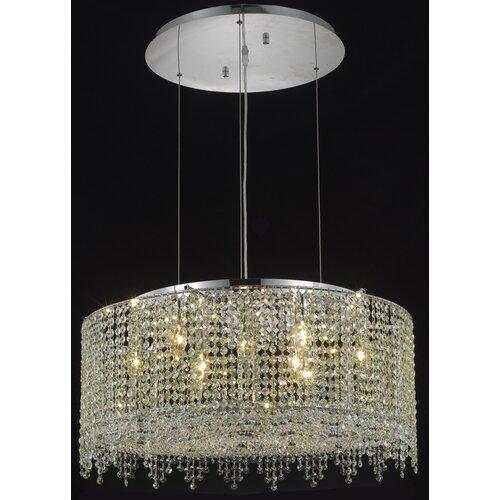 Elegant Lighting Moda 9 Light Drum Pendant