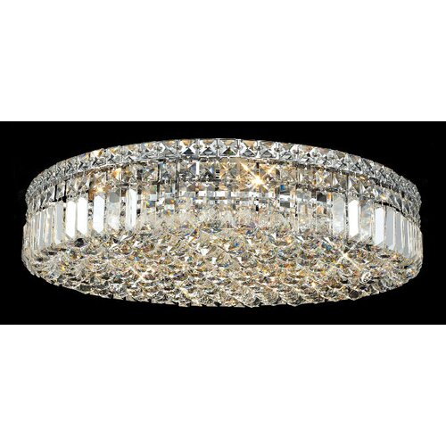 "Elegant Lighting Maxim 9 Light 24"" Flush Mount"