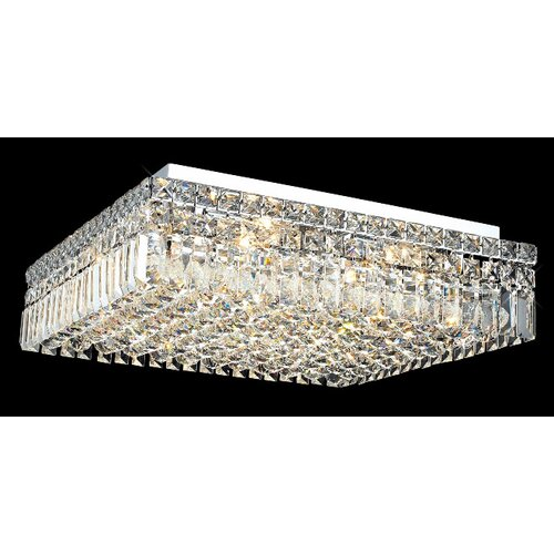 "Elegant Lighting Maxim 12 Light 20"" Flush Mount"