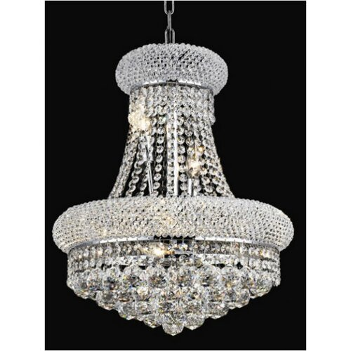 Elegant Lighting Primo 8 Light Chandelier with Crystal