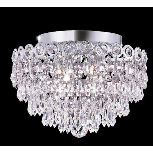 """Elegant Lighting Century 4 Light 12"""" Semi Flush Mount"""