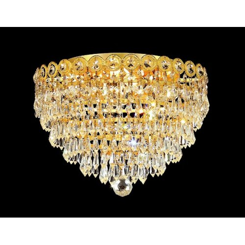 "Elegant Lighting Century 4 Light 14"" Flush Mount"