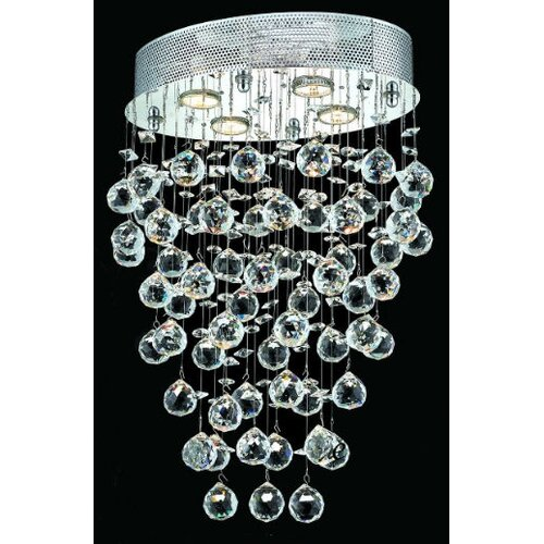 "Elegant Lighting Galaxy 4 Light 16"" Semi Flush Mount"