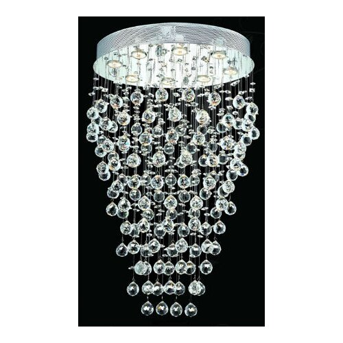 "Elegant Lighting Galaxy 8 Light 24"" Semi Flush Mount"