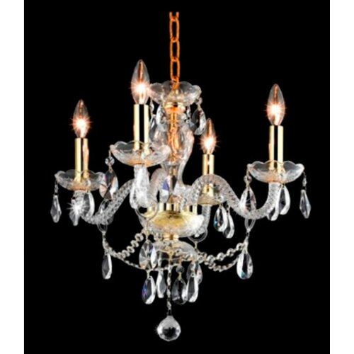 Elegant Lighting Princeton 4 Light Chandelier