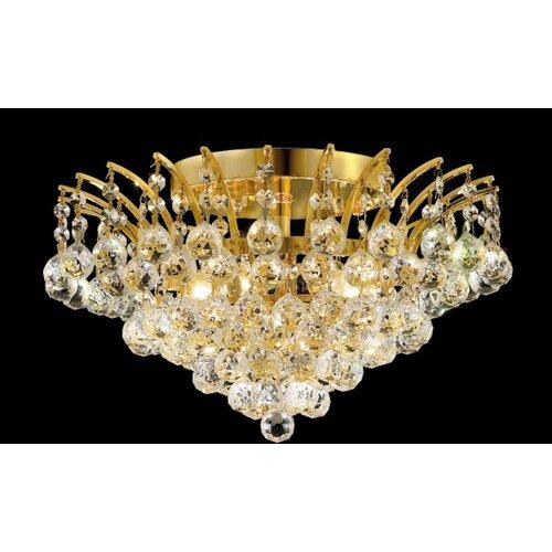 Elegant Lighting Victoria 6 Light Semi Flush Mount
