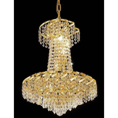 Elegant Lighting Belenus 6 Light Chandelier with Crystal