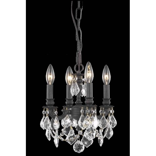 Elegant Lighting Lillie 4 Light  Chandelier