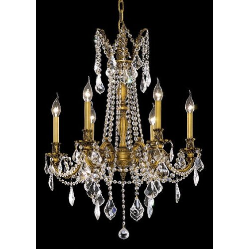 Elegant Lighting Rosalia 6 Light Chandelier