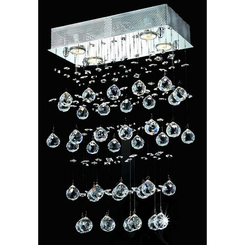 Elegant Lighting Galaxy 4 Light LED  Chandelier