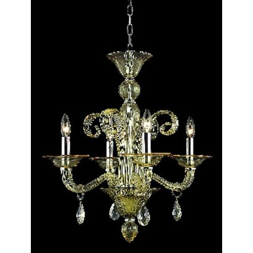 Elegant Lighting Muse 4 Light  Chandelier