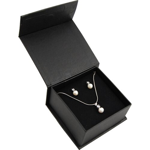 The Premium Connection Freshwater Cultured Pearl and Cubic Zirconia Pendant Necklace and Stud Earrings