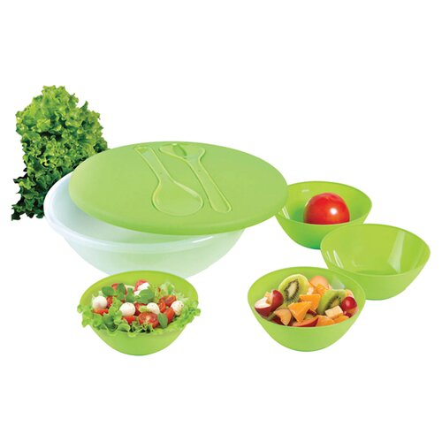 "The Premium Connection KitchenWorthy 9.24"" 8 Piece Salad and Serving Set"