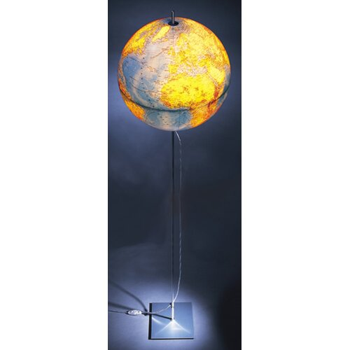 Absolut Lighting Globe Earth German Lettering Table Lamp
