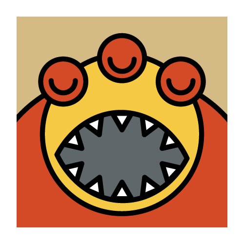 ModTots Monsters Teeth Wall Plaque