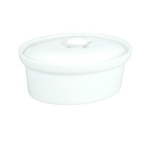 1.5-qt. Solid Porcelain Oval Casserole