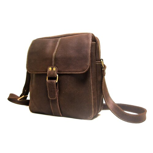 Distressed Leather Men's Shoulder Bag