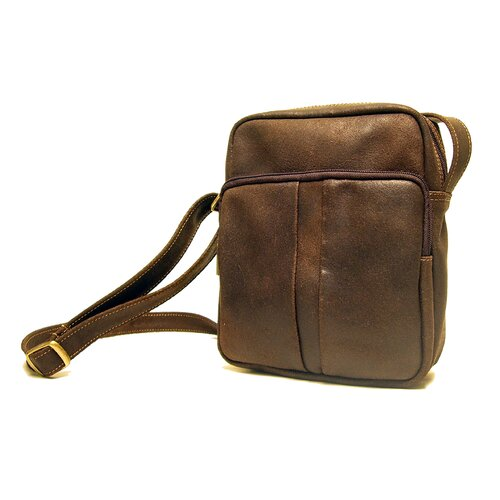 Distressed Leather Men's Day Shoulder Bag