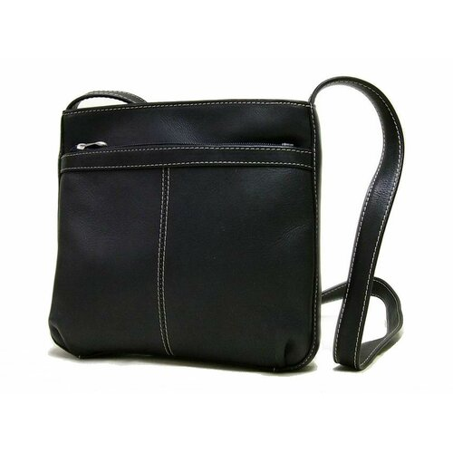 Le Donne Leather Exterior Zip Pocket Women's Shoulder Bag