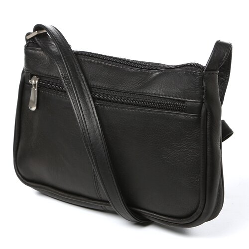 Le Donne Leather Simple Flap Over Shoulder Bag