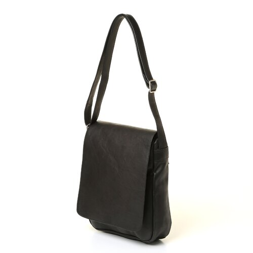 Le Donne Leather Flap Over Vertical Shoulder Bag