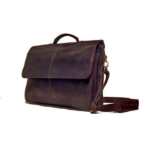 Laptop Distressed Leather Briefcase