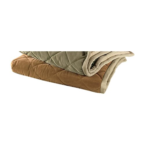 3Petzzz Large Quilted Blanket in Coffee