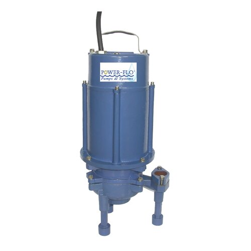 Power-Flo 2 HP Grinder Submersible Pump High Volume with Double Seal and Internal Capacitors