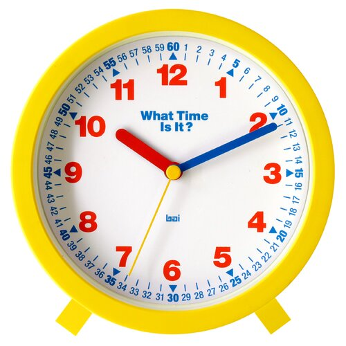 "Bai Design 6"" What-Time-Is-It Learning Clock"