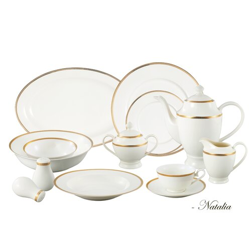 Lorren Home Trends La Luna 57 Piece Dinnerware Set