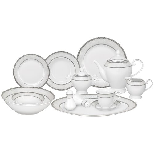 Casa Lorren Ballo 57 Piece Porcelain Dinnerware Set