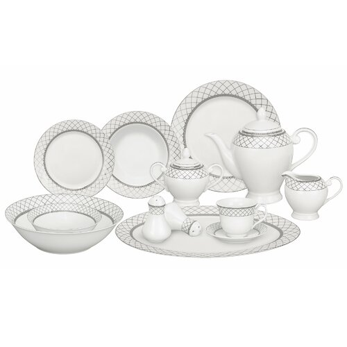 Casa Lorren Verona 57 Piece Porcelain Dinnerware Set