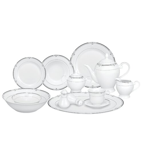Casa Lorren Rio 57 Piece Porcelain Dinnerware Set