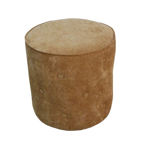 Tufted Cylinder Ottoman