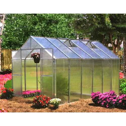 "Riverstone Industries Monticello 7' 6"" H  x 8.0' W x 24.0' D Quick Assembly Polycarbonate 8 mm Greenhouse"