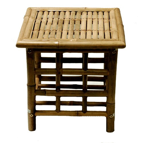 Bamboo Square Side Table