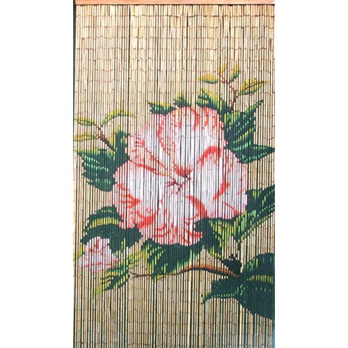 Bamboo54 Natrual Bamboo Flower Curtain Single Panel