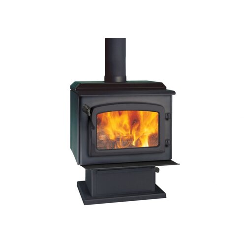Escape 1,900 Square Foot Wood Stove on Pedestal