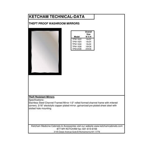 Ketcham Medicine Cabinets Theft Proof Mirror